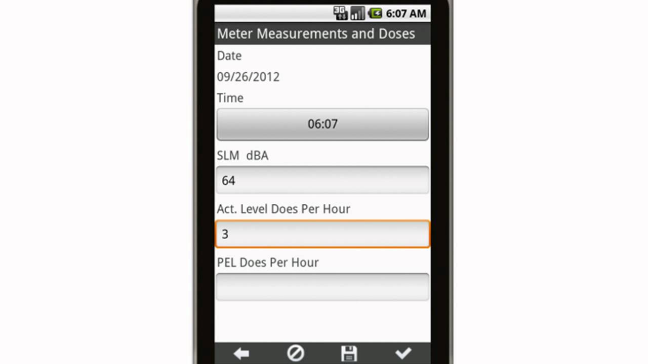 Canvas Record of Sound Level Meter Measurements and Doses Chart Mobile  App mp4