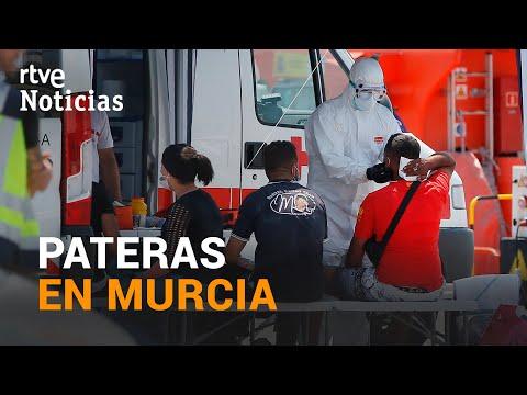 13 PATERAS  con 186 INMIGRANTES llegan a las costas de MURCIA I RTVE