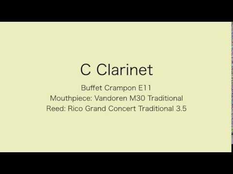 Bb,C,Eb Clarinets comparison