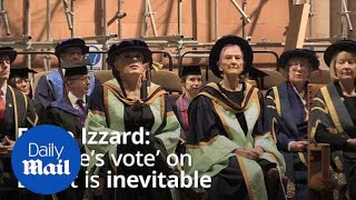 Eddie Izzard receives honorary doctorate and talks Brexit