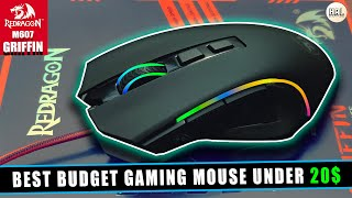 Redragon M607 Griffin | RGB 7200 DPI | Best Budget Gaming Mouse Under $20 | Quick Review.
