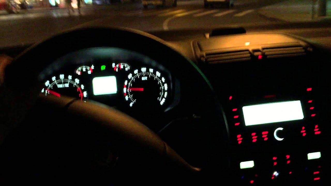 Skoda Octavia night lights - YouTube