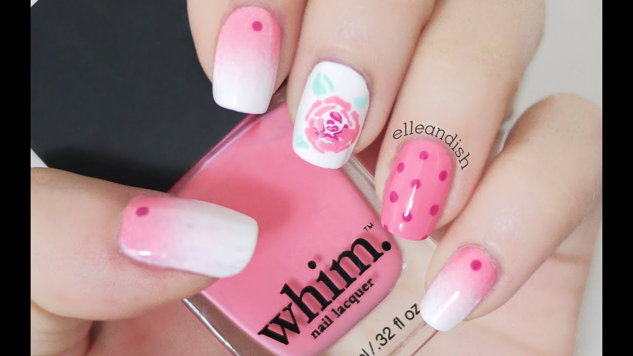 Rose Nail Tutorial - ULTA Whim Nail Lacquer - YouTube