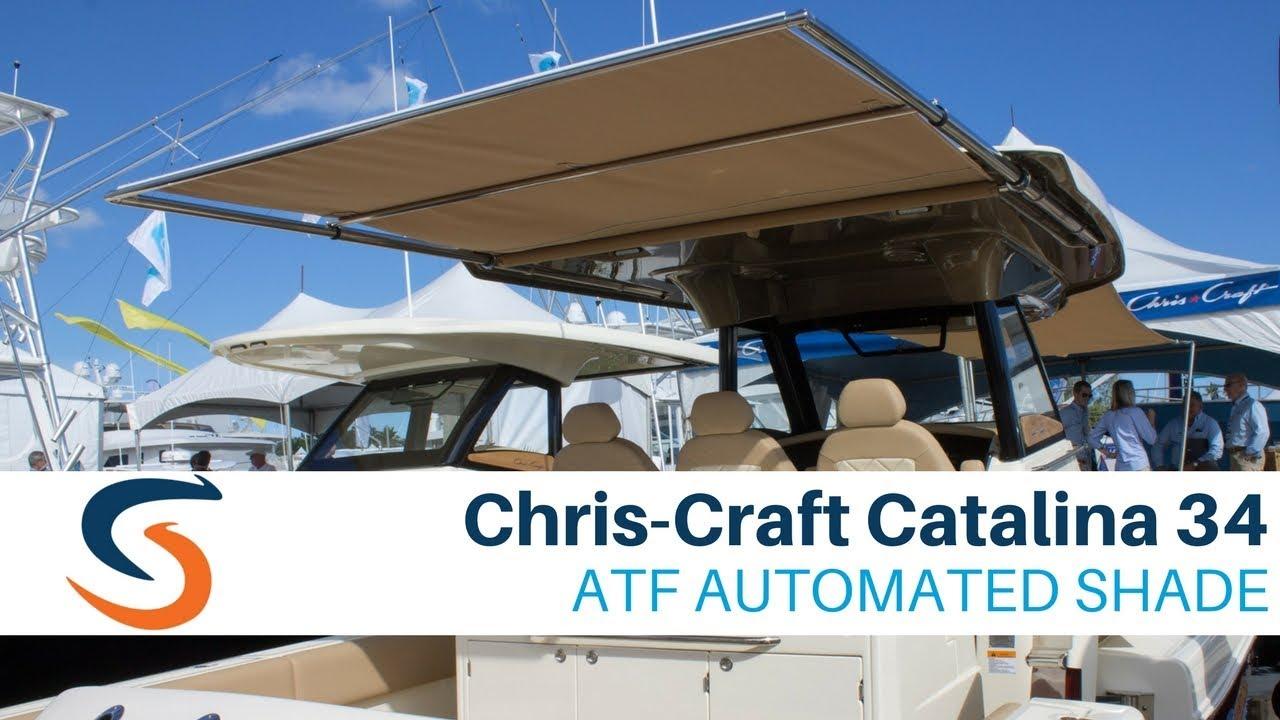 Chris-Craft Catalina 34 with SureShade Telescoping Boat Shade & Chris-Craft Catalina 34 with SureShade Telescoping Boat Shade ...