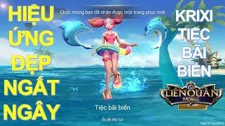 Liên quân mobile: KRIXI Tiệc Bãi Biển vô cùng đẹp và đáng yêu [Mua và test luôn] Summer Krixi Skin!