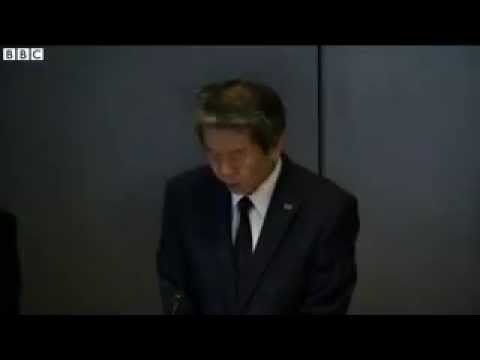 Toshiba chief executive   We apologise from our hearts    BBC News