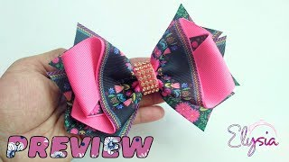 [PREVIEW] Laço Brielle 🎀 Ribbon Bow 🎀 DIY by Elysia Handmade