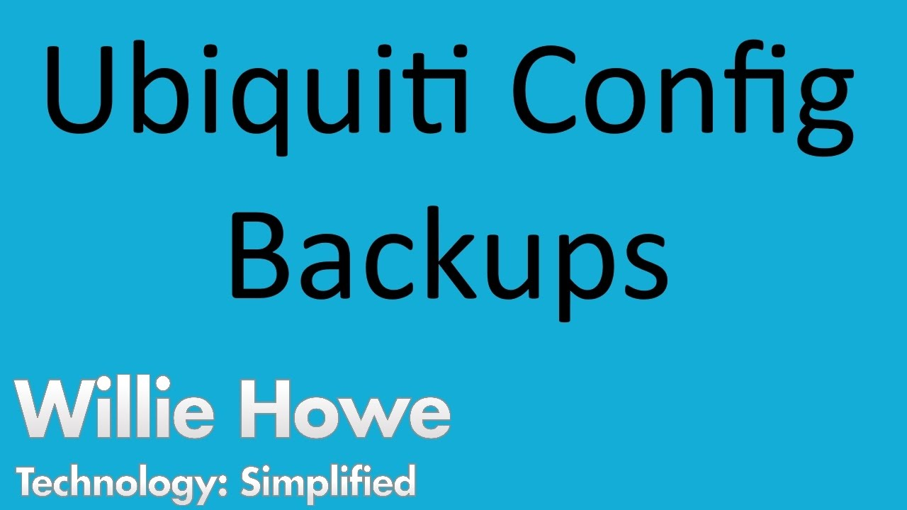 Ubiquiti Configuration Backup