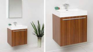 Fresca Alto Teak Modern Bathroom Vanity W/ Faucet & Medicine Cabinet - Fvn8058tk