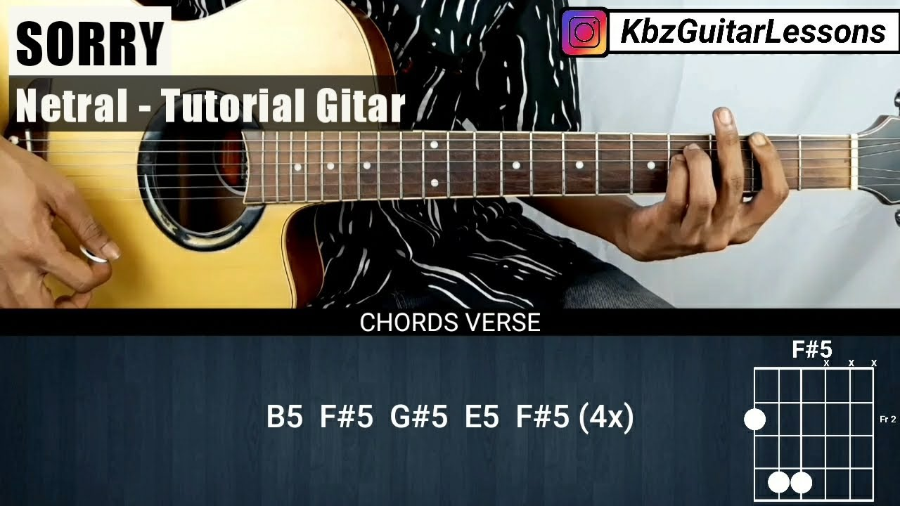 Tutorial Gitar Sorry - NETRAL (Chord Asli)