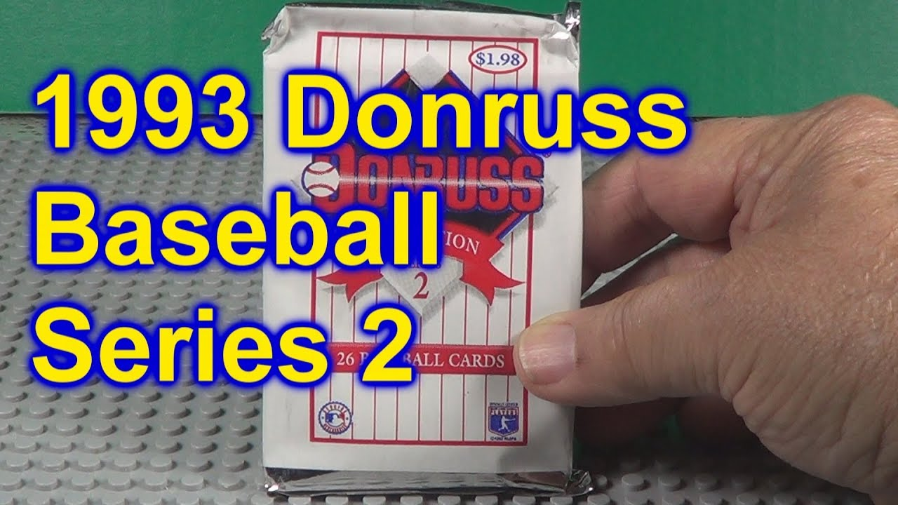 1993 Donruss Baseball Series 2 Jumbo Pack Opened Derek Jeter Rookie Year