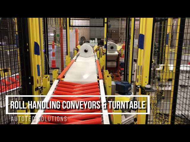 Roll Handling Conveyors &Turntable | Autotec Solutions