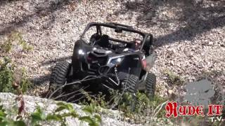 The new Can-Am Maverick X3 takes on a big hill called Viagra