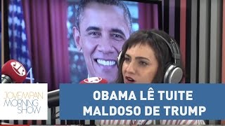 Obama lê tuite maldoso de Trump em programa de TV