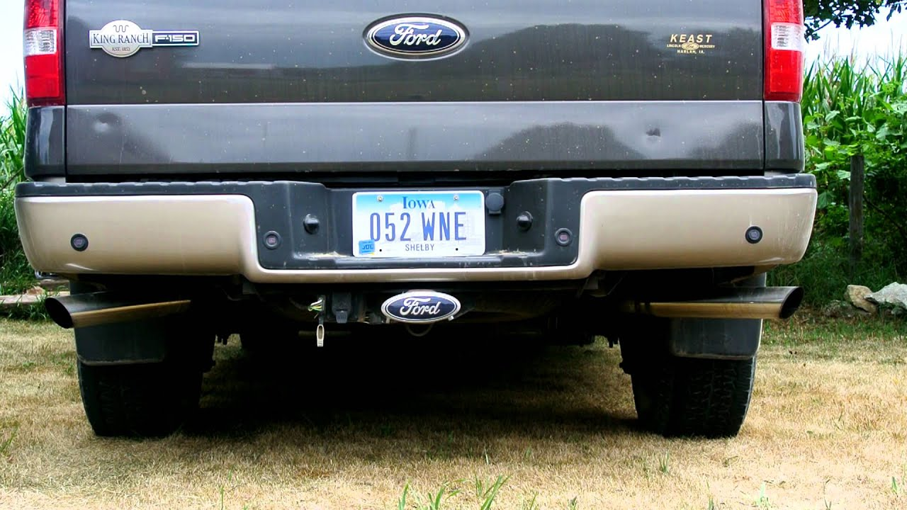 2006 ford f150 dual exhaust youtube