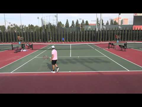 1 3 2016 Hu Vs Altamirano 3rd set USC Los Angeles Pro Futures 4K