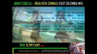 CUMBIAS COLOMBIANAS MIX --- jonny cage dj - mega rich cumbias (fast colombia mix)