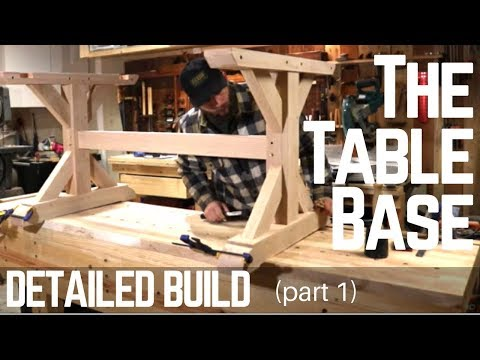 How To Build A Farmhouse Trestle Table Base ( Detailed Version ) Woodworking   Make
