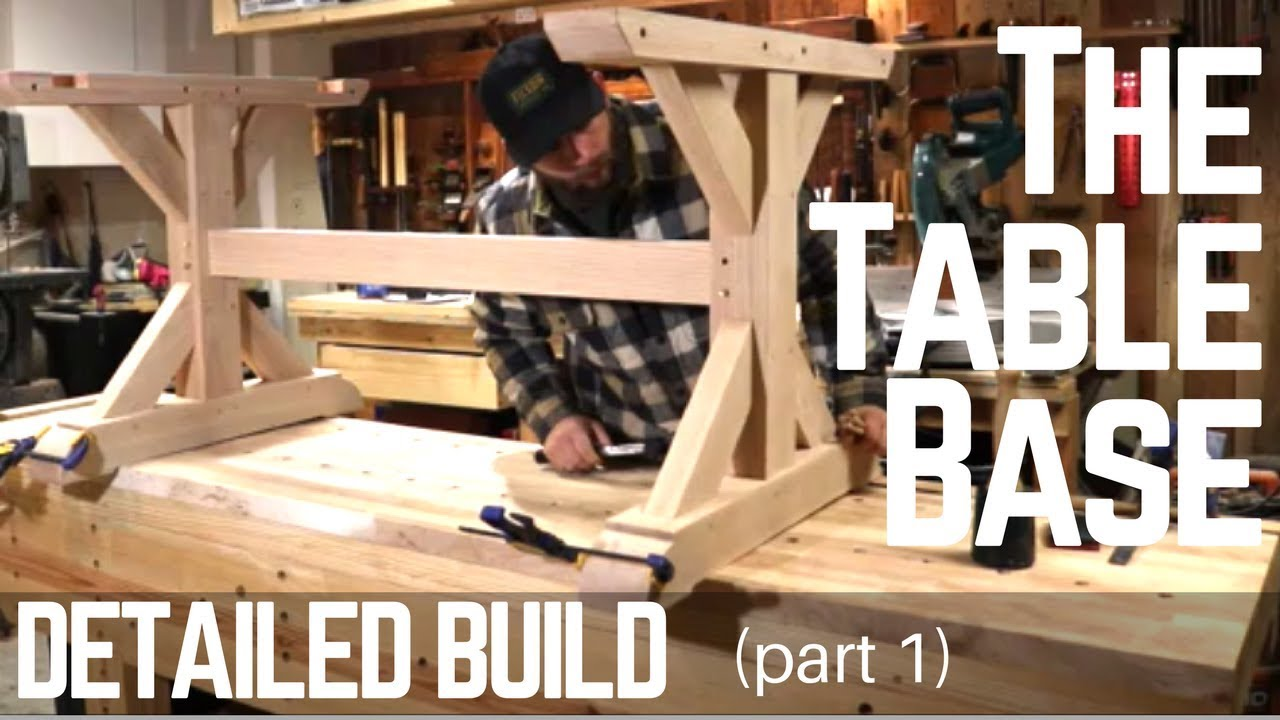 How To Build A Farmhouse Trestle Table Base Detailed