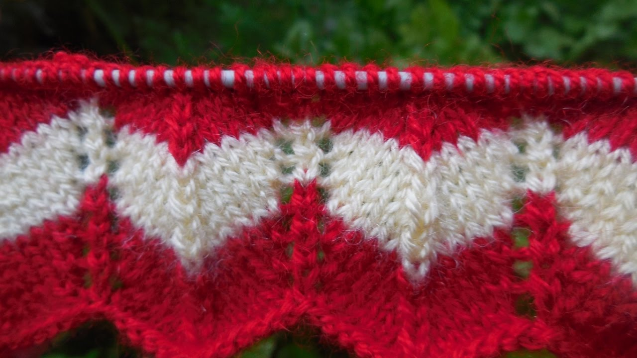 Zig-Zag Knitting Pattern # 45 - YouTube