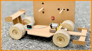 How to make a F1 RC car at home from cardboard - Remote Control Car - Amazing DIY toy