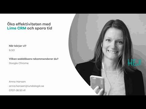 Webbinarium 2018-01-25: Öka effektiviteten med Lime CRM och spara tid!