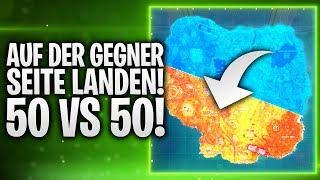 AUF DER GEGNER SEITE LANDEN! 50 VS 50! 🏆 | Fortnite: Battle Royale