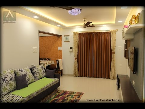3 Bhk Apartment Interior Design at sun orbit , Pune  |Excel constructions & Interior Designers.