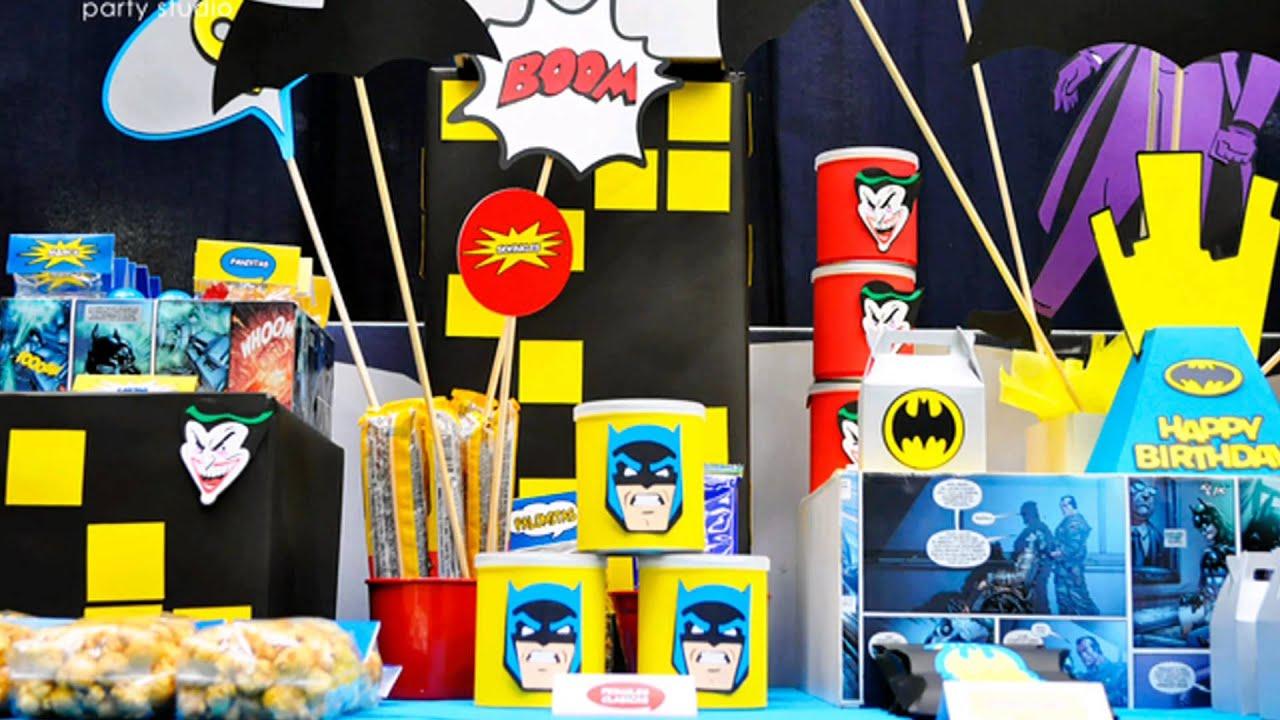 Ideas para una fiesta de batman youtube - Ideas originales para una fiesta ...