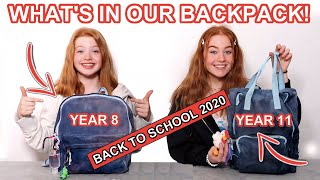 WHAT'S IN OUR BACKPACK 2020 *Back To School Supplies Haul Tips Year 8 & 11 Secondary Ruby and Raylee