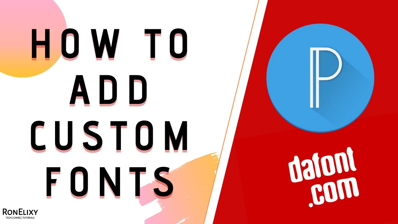 How to download, install and add fonts to PIXELLAB? | Dafont | FreeFonts2019