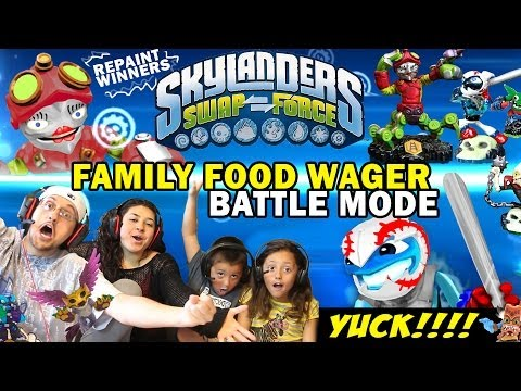 Skylanders Swap Force: Family Food Wager Battle Mode (4 Play