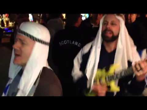 Scotland v Qatar post match karaoke in Tamsons - kilts and