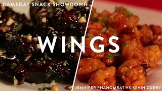 Pad Thai Chicken Wings Vs Buffalo Cauliflower | Gameday Snack Showdown Ep 4