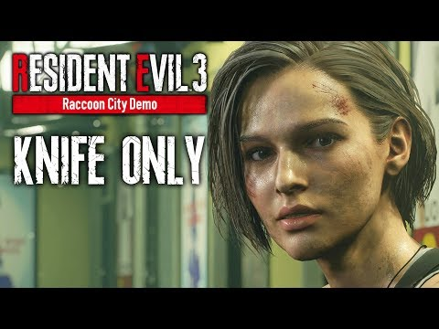 DODGING ZOMBIES – RESIDENT EVIL 3 REMAKE Raccoon City DEMO Knife Only Gameplay