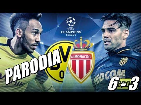 AS Monaco vs Borussia Dortmund 6-3 (Parodia I Feel It Coming - The Weeknd)
