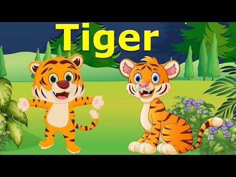Con vật và tiếng kêu | bé học các loài động vật con hổ con nhím tiếng Anh | Dạy trẻ thông minh sớm
