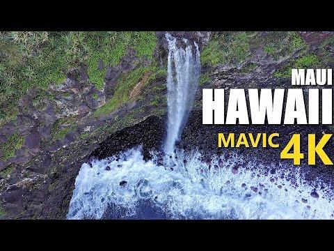 Maui Hawaii Coastal Waterfalls & Caves - DJI Mavic Pro 4K - [Up Close & Personal]
