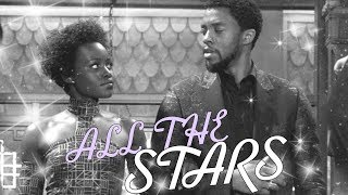 Nakia & T'Challa - all the stars (Black Panther)