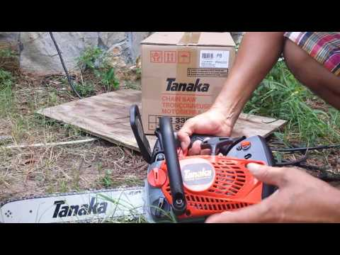 Tanaka top handle chainsaw tcs33edtp
