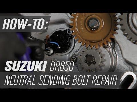 Suzuki DR650 Neutral Sending Unit Bolt Repair