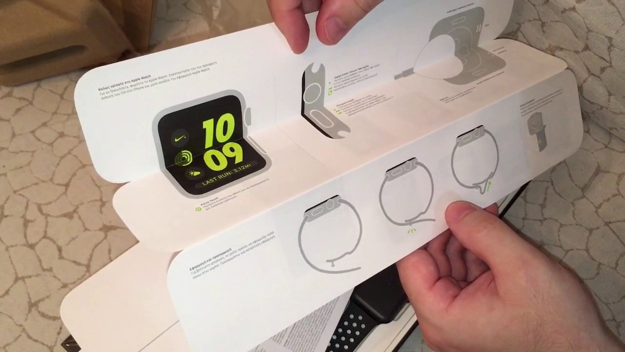 11a8c859e9b363 Unboxing Apple Watch Nike+ 42mm Space Grey Aluminium Case with Black Cool Grey  Nike Sport Band