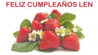 Len   Fruits & Frutas - Happy Birthday