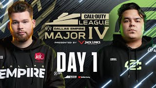 Call Of Duty League 2021 Season | Stage IV Major Tournament | Day 1