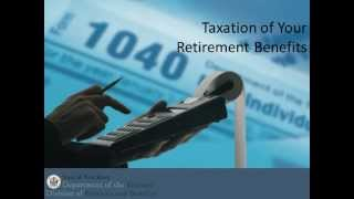 Taxation of your NJ Retirement Benefit