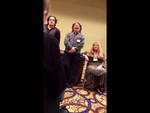 Brian, Wendy and Toby Froud discuss labyrinth at convolution 2013