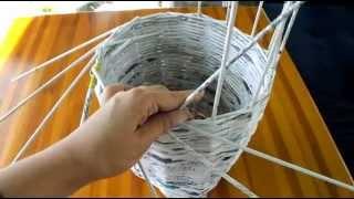 Repeat youtube video Jak zrobić wazon/doniczkę z wikliny papierowej Instrukcja