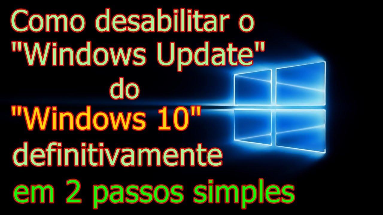 desabilitar windows update