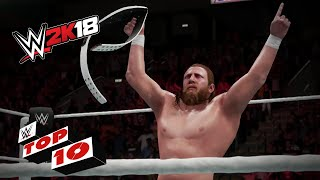 Championship Winning Celebrations: WWE 2K18 Top 10