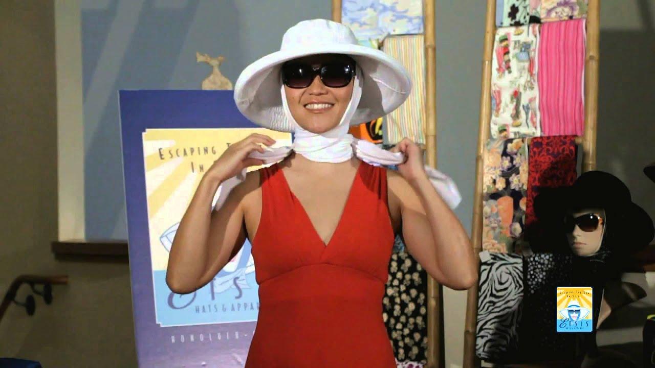 How to wear an ETSIS Sun Hat. Village Hat Shop a6aa2e2dbe7